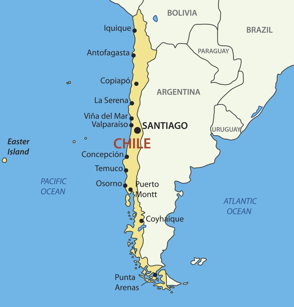 Map of Chile country