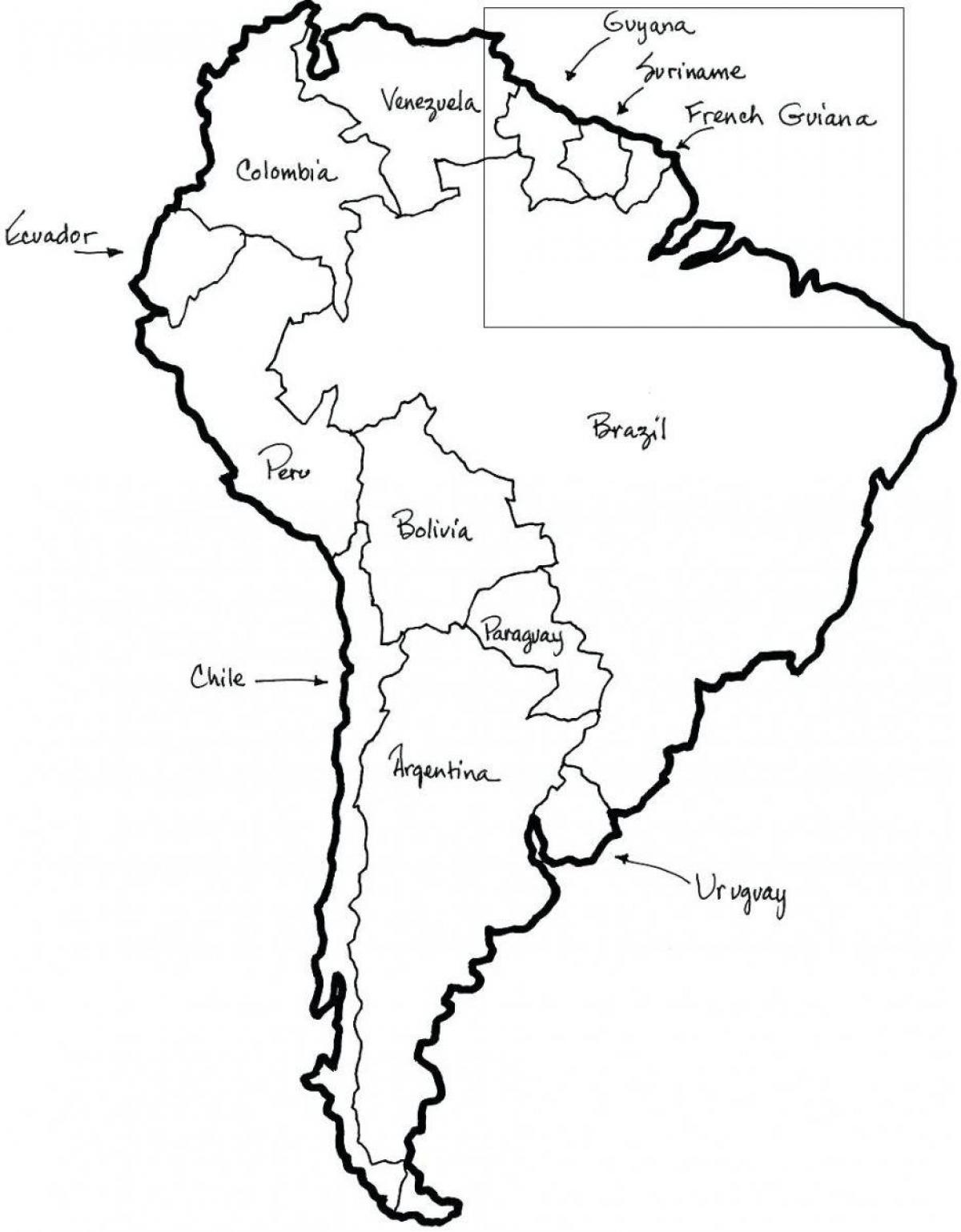Map of Chile outlin