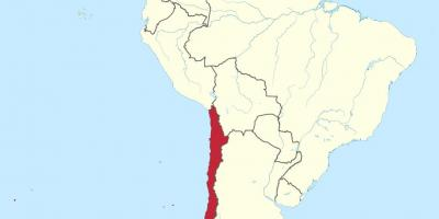 Chile on south america map