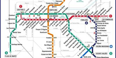 Subway Map In Chile.Chile Subway Map Map Of Chile Subway South America Americas
