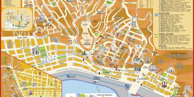 Tourist map of valparaiso Chile